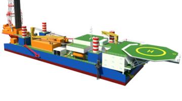 Буровая установка для бурения на воде JINFAN HGD-300A