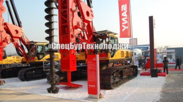 Буровая установка CFA для буронабивных свай SANY SR280M